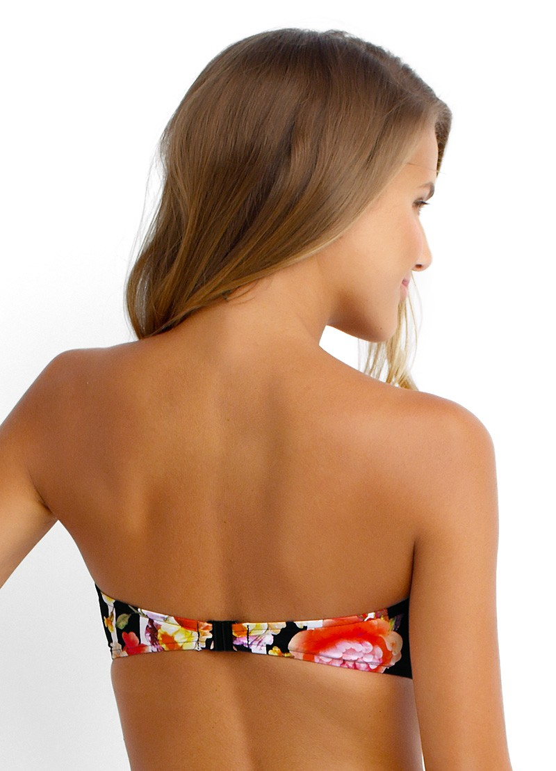 Romeo Rose Zip Front Bandeau