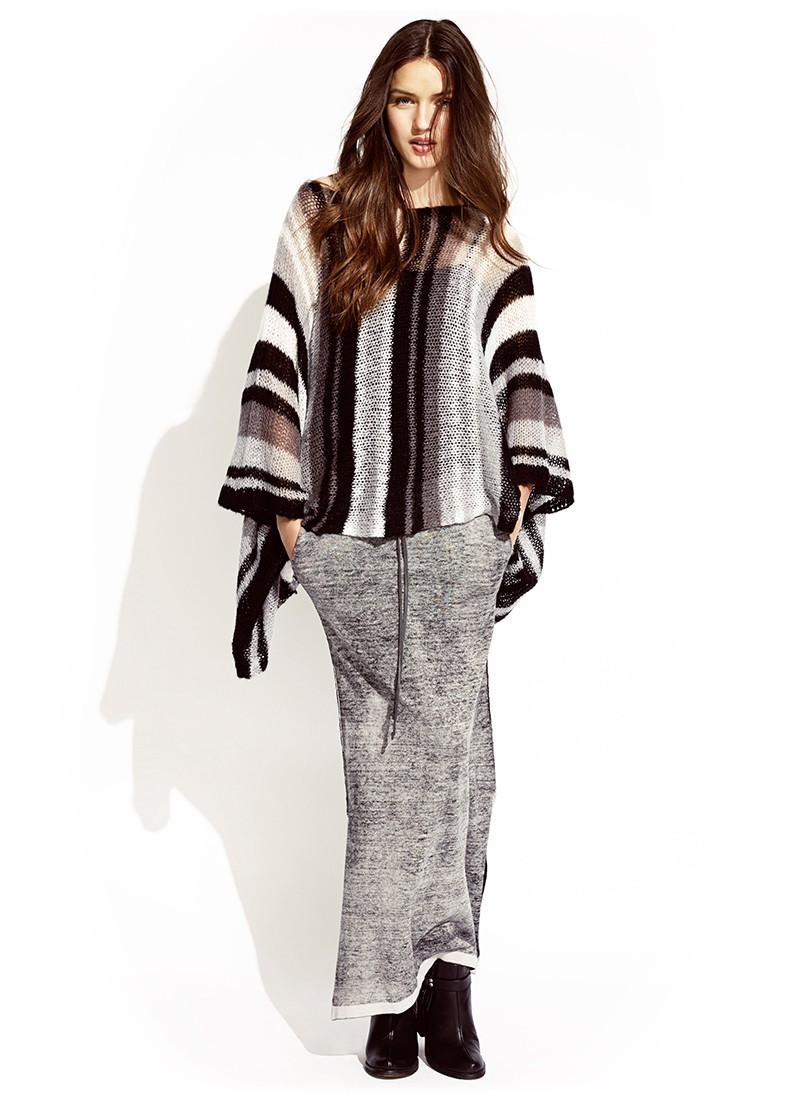 Cherub Poncho and Mars Maxi Skirt