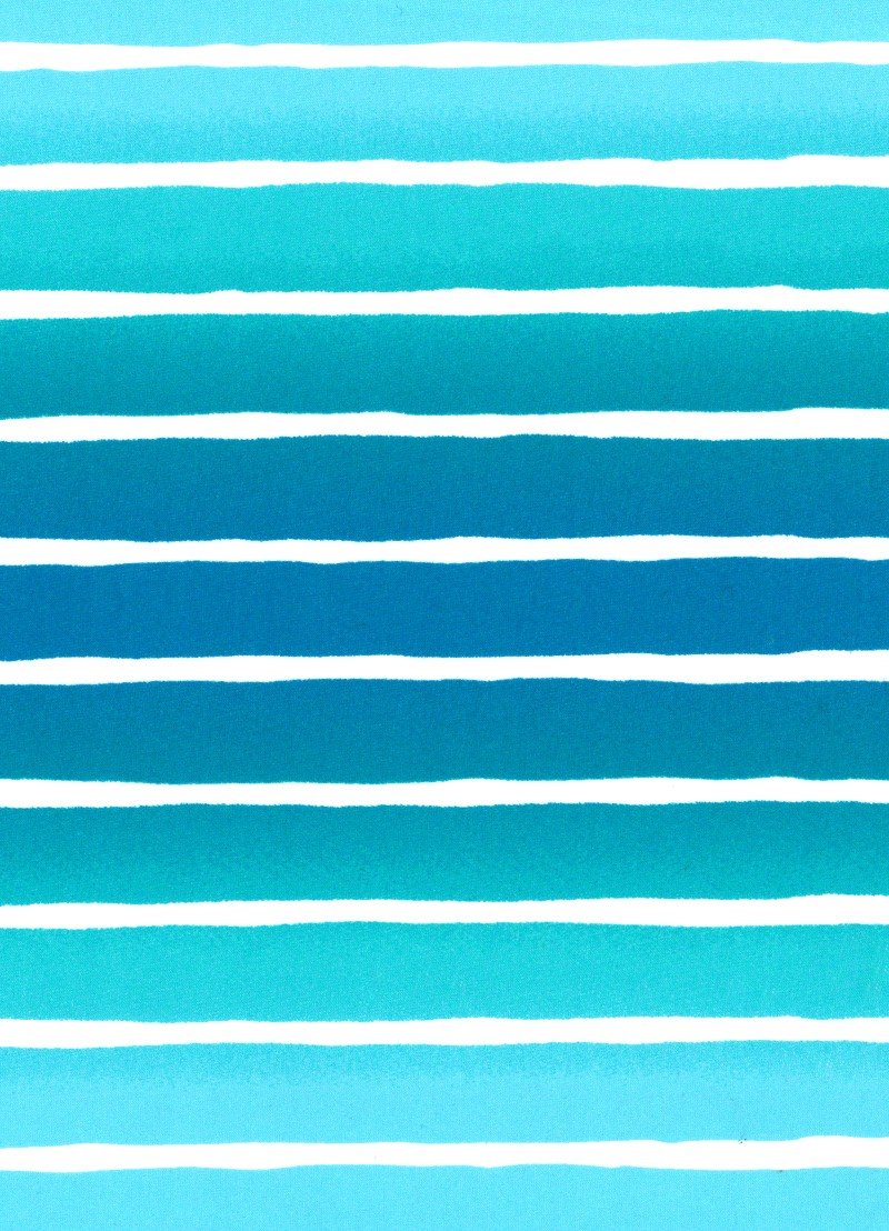 Miami Stripe Ruched Side Retro