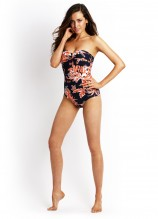 Tropical Beat Twist Bandeau Maillot