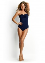 Goddess Pleated Bandeau Maillot