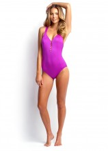 Shimmer Lattice Back One Piece