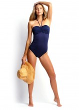 Seafolly Goddess Pleat Front Maillot