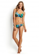 Paradise D Cup Underwire Bra and Hipster Pant with Frill