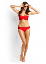 Shimmer D Twist Booster Bandeau and Ruched Side Retro