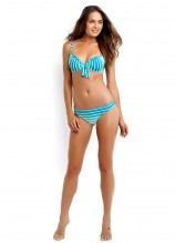 Miami Stripe Sweetheart Bustier and Mini Hipster