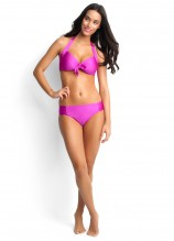 Shimmer Tie Front Halter and Ruched Side Retro
