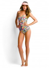 Summer Garden Bandeau Singlet, Ruched Side Retro and Sunbeam Visor