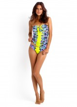 Bella Rose Bandeau Singlet and Ruched Side Retro