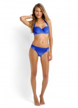 Miami Halter Bustier and Ruched Side Retro - Lapis