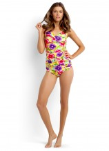 Paradiso Twist Halter Singlet and Ruched Side Retro