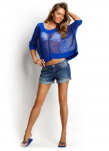 Meshed up Top and Indie Denim Shorts
