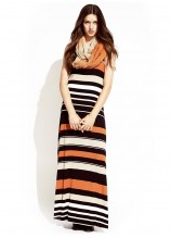 Licorice Allsorts Maxi Dress and Spice Trail Scarf