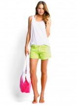 Scoop Singlet and Candy Denim Short Dyed Pretty Tote