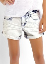 Acid Wash Denim Short