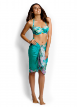 Songbird DD Cup Balconette, Wrap Front Retro Pant and Samurai Silk Sarong