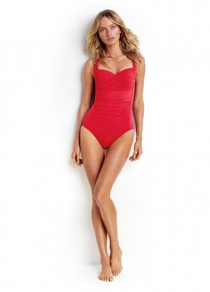 Seafolly Goddess Twist Halter One Piece Maillot