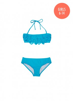 Tropical Splice Mini Tube Bikini Set