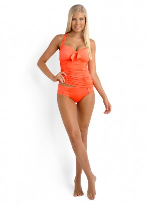 Seafolly Soft Cup Halter Singlet & Ruched Side Retro Bikini Pant