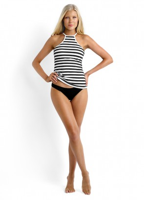 Coast to Coast C-D Cup High Neck Singlet Bikini Top & Seafolly Goddess Mini Hipster Bikini Pant