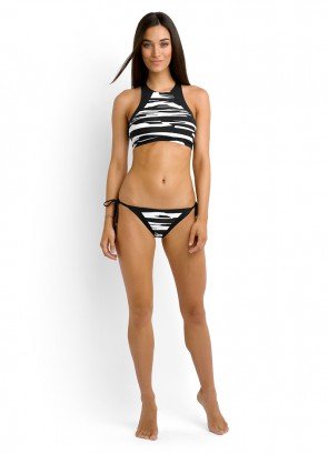 Fastlane High Neck Bikini Tank Top & Brazilian Tie Side Bikini Pant