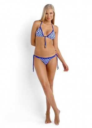 Tidal Wave Slide Triangle Bikini Top & Brazilian Tie Side Bikini Pant