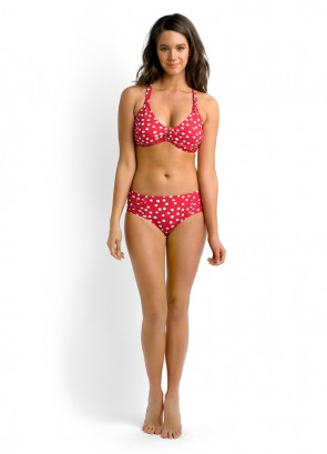 "Spot On F Cup ""U"" Halter Bikini Top & Ruched Side Retro Bikini Pant"