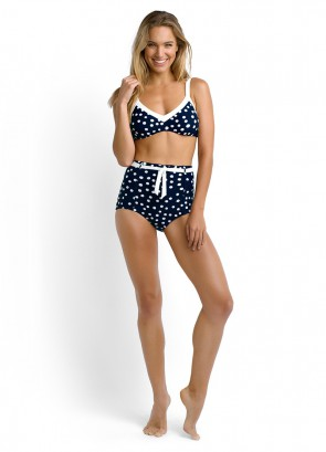 Spot On Bralette Bikini Top & High Waisted Bikini Pant