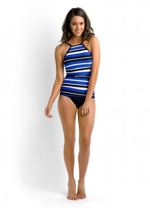 Walk The Line DD Cup Singlet Tankini & Seafolly Goddess Roll Top Bikini Pant