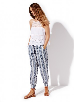 Halter Top & Bohemia Shirred Waist Pant
