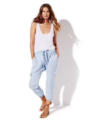 Linen Swing Tank & Chambray Drop Rise Pant