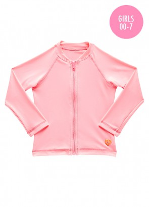 Peek A Boo Long Sleeve Zip Rashie
