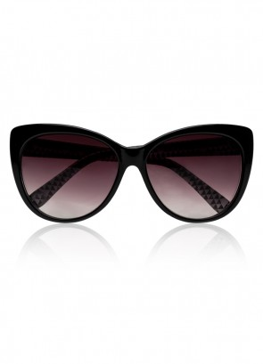 Kendwa Shiny Black Sunglasses