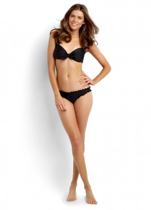 Shimmer Tie Front Halter & Ruched Side Retro