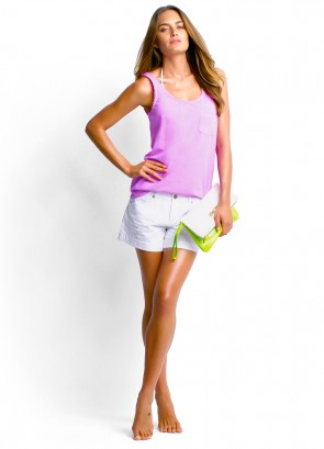 Scoop Singlet & Candy Denim Shorts