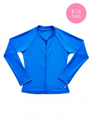 Fun Run Long Sleeve Zip Front Rashie