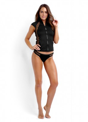 Mesh About Sunvest Top & High Cut Brazilian Pant