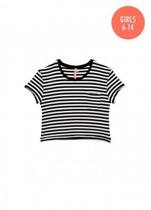 Rails Stripe Crop Tshirt